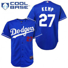 YOUTH Los Angeles Dodgers #27 Matt KempBlue Cool Base Jersey