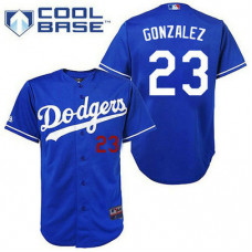 YOUTH Los Angeles Dodgers #23 Adrian GonzalezAuthentic Royal Blue Cool Base Jersey