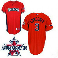 Tampa Bay Rays #3 Evan Longoria American League 2010 All Star BP Red Jersey