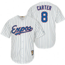 Montreal Expos #8 Gary Carter White/Royal Cooperstown Player Cool Base Jersey