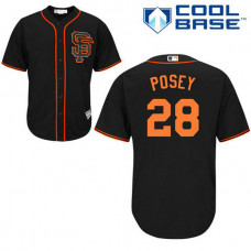 San Francisco Giants #28 Buster Posey Black Alternate Cool Base Jersey