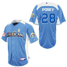 San Francisco Giants #28 Buster Posey Blue 2012 All-Star BP Jersey