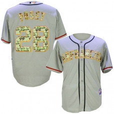 San Francisco Giants #28 Buster Posey Grey Camo Cool Base Jersey