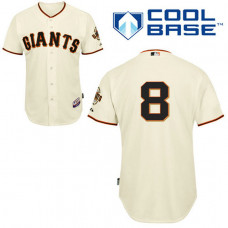 YOUTH San Francisco Giants #8 Hunter PenceAuthentic Cream Home Cool Base Jersey