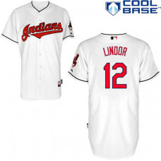 Cleveland Indians #12 Francisco Lindor Cool Base Jersey