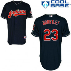 Cleveland Indians #23 Michael Brantley Authentic Navy Blue Alternate Cool Base Jersey