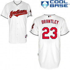 Cleveland Indians #23 Michael Brantley Authentic White Home Cool Base Jersey