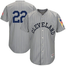 Cleveland Indians #22 Jason Kipnis Grey 1917 Throwback Turn Back the Clock Authentic Player Jersey