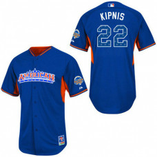 Cleveland Indians #22 Jason Kipnis Authentic Royal Blue American League 2013 All Star BP Jersey