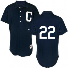 Cleveland Indians #22 Jason Kipnis Authentic Navy Blue 1902 Turn Back The Clock Jersey