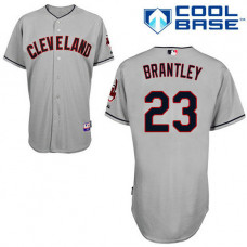 Cleveland Indians #23 Michael Brantley Authentic Grey Away Cool Base Jersey