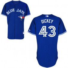 YOUTH Toronto Blue Jays #43 R.A. Dickey Authentic Royal Blue Alternate Jersey