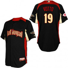 Cincinnati Reds #19 Joey Votto National League 2011 All Star BP Black Jersey