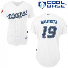 YOUTH Toronto Blue Jays #19 Jose BautistaWhite New Cool Base Jersey