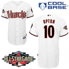 Arizona Diamondbacks #10 Justin Upton White Home Cool Base 2011 All-Star Patch Jersey