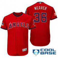 Los Angeles Angels #36 Jered Weaver Red Stars & Stripes 2016 Independence Day Cool Base Jersey