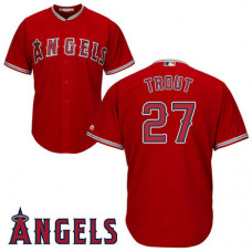 Los Angeles Angels #27 Mike Trout Scarlet Alternate Cool Base Jersey