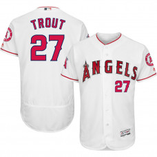Los Angeles Angels #27 Mike Trout White Flexbase Authentic Collection Player Jersey