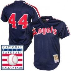 California Angels Reggie Jackson #44 Navy Cooperstown Mesh Batting Practice Player Jersey