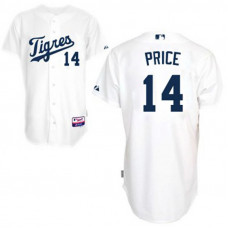 Detroit Tigers #14 David Price Authentic White Cool Base Jersey
