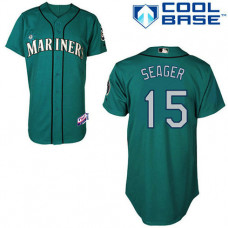 Seattle Mariners #15 Kyle Seager Authentic Teal Green Alternate Cool Base Jersey