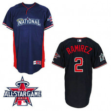 Florida Marlins #2 Hanley Ramirez National League 2010 All Star BP Blue Jersey