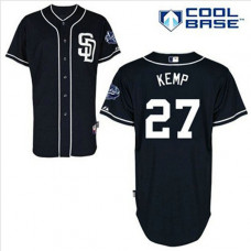 San Diego Padres #27 Matt Kemp Authentic Navy Blue Alternate Cool Base Jersey