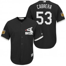 Chicago White Sox Melky Cabrera #53 2017 Spring Training Grapefruit League Patch Black Cool Base Jersey
