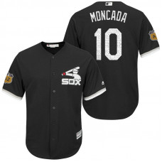 Chicago White Sox #10 Yoan Moncada 2017 Spring Training Black Cool Base Jersey