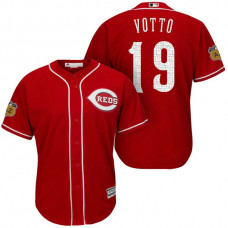 Cincinnati Reds #19 Joey Votto 2017 Spring Training Cactus League Patch Scarlet Cool Base Jersey