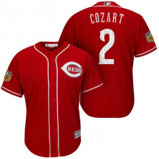 Cincinnati Reds #2 Zack Cozart 2017 Spring Training Cactus League Patch Scarlet Cool Base Jersey