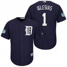 Detroit Tigers #1 Jose Iglesias 2017 Spring Training Grapefruit League Patch Navy Cool Base Jersey