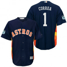 Houston Astros #1 Carlos Correa 2017 Spring Training Grapefruit League Patch Navy Cool Base Jersey