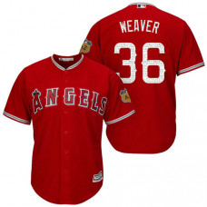 Los Angeles Angels #36 Jered Weaver 2017 Spring Training Cactus League Patch Scarlet Cool Base Jersey