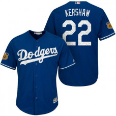Los Angeles Dodgers #22 Clayton Kershaw 2017 Spring Training Cactus League Patch Royal Cool Base Jersey