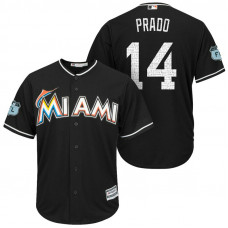 Miami Marlins #14 Martin Prado 2017 Spring Training Grapefruit League Patch Black Cool Base Jersey