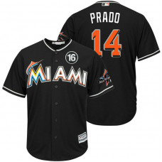 Miami Marlins #14 Martin Prado 2017 All-Star Jose Fernandez Patch Black Cool Base Jersey