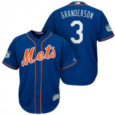 New York Mets #3 Curtis Granderson 2017 Spring Training Grapefruit League Patch Royal Cool Base Jersey