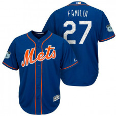 New York Mets #27 Jeurys Familia 2017 Spring Training Grapefruit League Patch Royal Cool Base Jersey