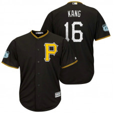 Pittsburgh Pirates #16 Jung Ho Kang 2017 Spring Training Grapefruit League Patch Black Cool Base Jersey