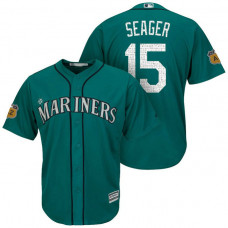 Seattle Mariners #15 Kyle Seager 2017 Spring Training Cactus League Patch Aqua Cool Base Jersey