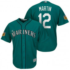 Seattle Mariners #12 Leonys Martin 2017 Spring Training Cactus League Patch Aqua Cool Base Jersey