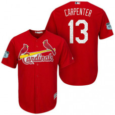 St. Louis Cardinals #13 Matt Carpenter 2017 Spring Training Grapefruit League Patch Scarlet Cool Base Jersey