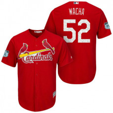 St. Louis Cardinals #52 Michael Wacha 2017 Spring Training Grapefruit League Patch Scarlet Cool Base Jersey
