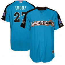 2017 All-Star American League Los Angeles Angels Mike Trout #27 Blue Home Run Derby 2017 All-Star American League Jersey