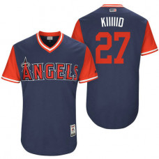 Los Angeles Angels Mike Trout #27 Kiiiiid Navy Nickname 2017 Little League Players Weekend Jersey