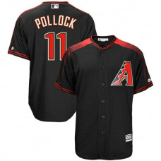 A.J. Pollock #11 Arizona Diamondbacks Replica Alternate Black Cool Base Jersey