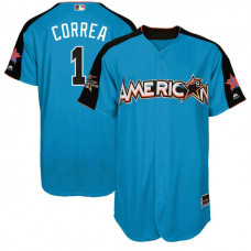 2017 All-Star American League Houston Astros Carlos Correa #1 Blue Home Run Derby 2017 All-Star American League Jersey
