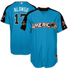 2017 All-Star American League Oakland Athletics Yonder Alonso #17 Blue Home Run Derby 2017 All-Star American League Jersey