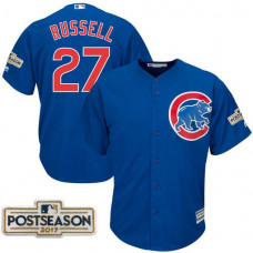 Addison Russell #27 Chicago Cubs 2017 Postseason Royal Cool Base Jersey